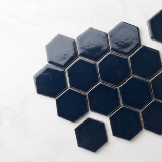 Our Navy Blue 3 Hexagons Make For The Perfect Flooring