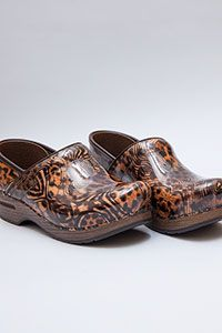 Stapled Clog Collection Cheetah Multi Patent Pelle  Dansko  Dansko    e989c5