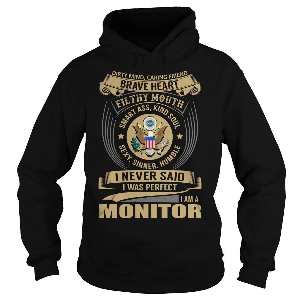Monitor Brave Heart Job Title TShirt