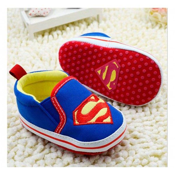 Tênis Slipper para Bebê Superman Sapatinho De Trico 89ffff8621d