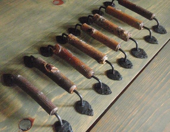 Superior Wood Furniture Drawer Pulls/cabinet Handles Set Of By Gonetoseed, $160.00
