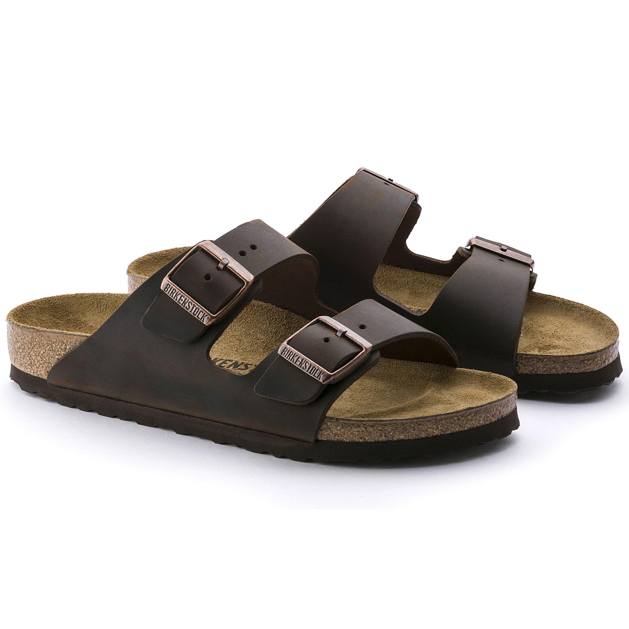 Arizona Oiled Leather Habana Birkenstock Cork Footbed Sandals Birkenstock Arizona