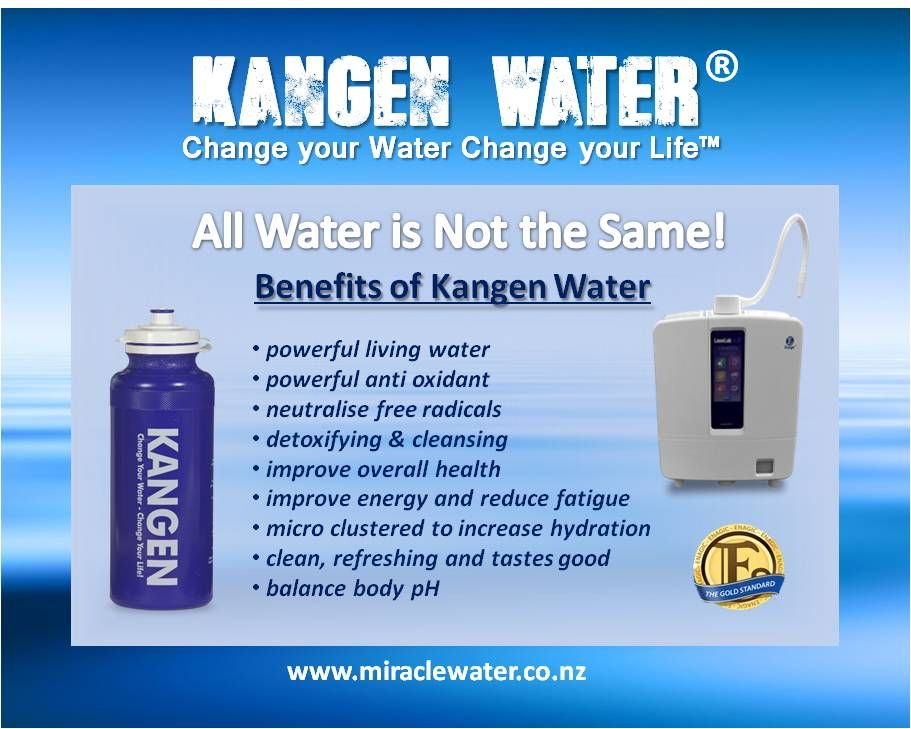 All Water Is Not The Same Kangen Water Ionised Water Drinking Water