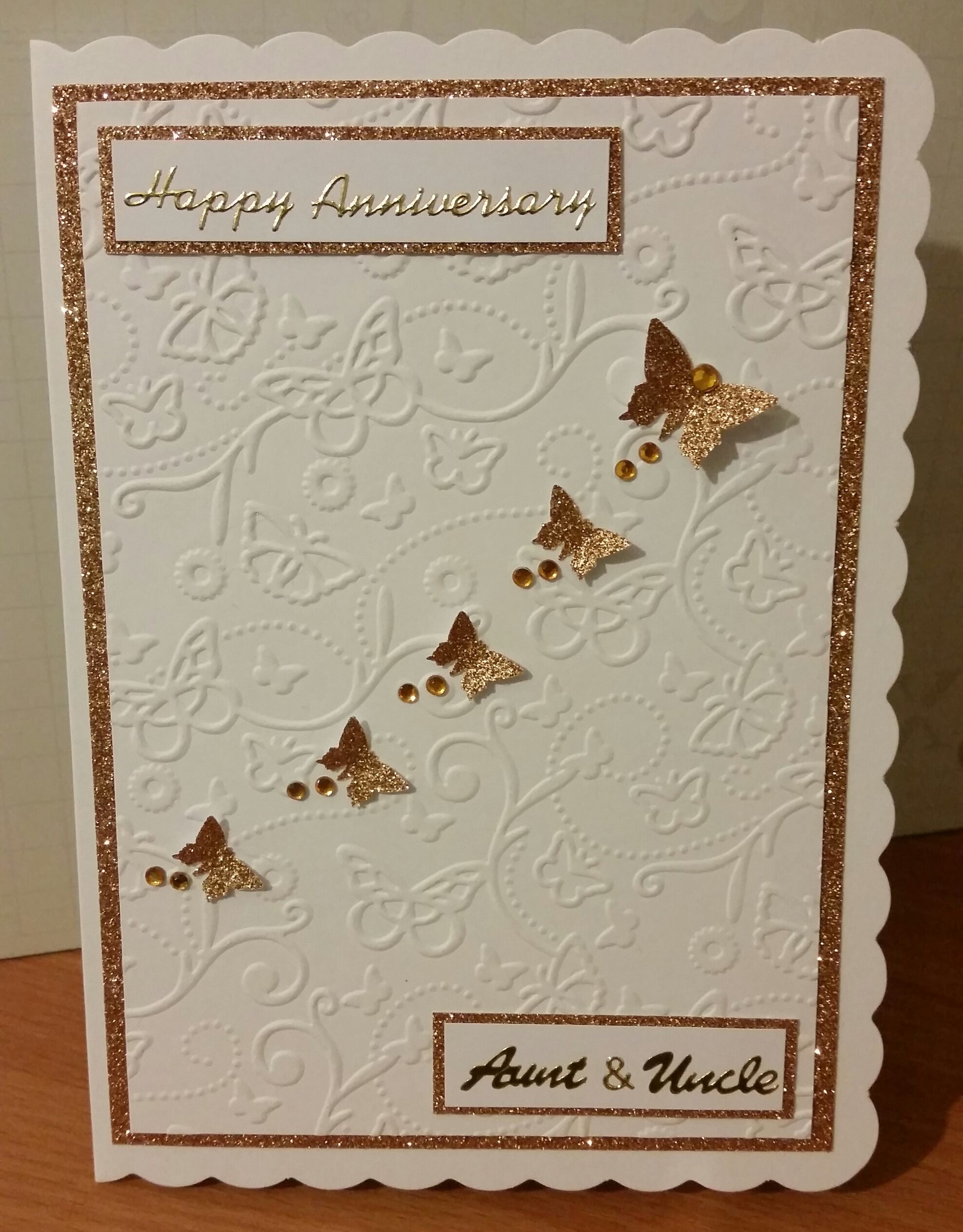 Happy Anniversary Aunt Uncle Happy Anniversary Handmade Cards For Friends Cards For Friends