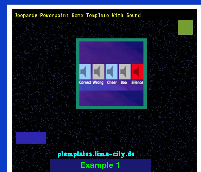 Jeopardy Powerpoint Game Template With Sound Powerpoint Templates
