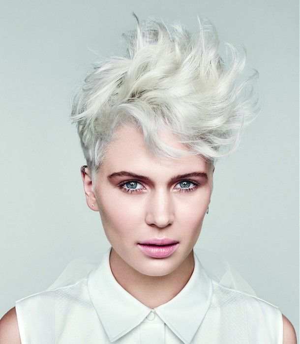 Paul Mitchell Short White Wavy Hair Styles Ukhairdressers Com Short Hair Styles Hairstyle Gallery Haircut Images