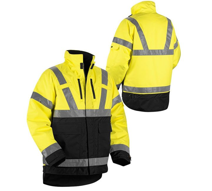 Reflective Winter Jacket Made By Reflective Fabric And Reflective Tape To Enhance Visibility And Keep Safe Winter Jackets Jackets Reflective Clothing