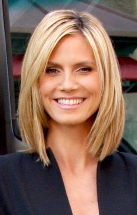 Heidi Klum Long Bob Haircut Proper Hairstyles Haarschnitt Frisuren Schulterlang Schulterlange Haarschnitte