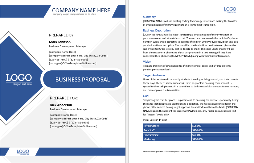 Customizable Ms Word Proposal Templates Office Templates With Regard To Free Bu In 2021 Free Business Proposal Template Proposal Templates Business Proposal Template - ms word proposal template