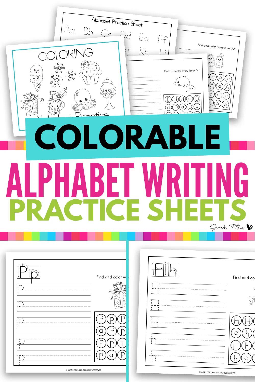 Cute Art Coloring Alphabet Writing Practice Worksheets 26 Pdf S Alphabet Writing Practice Writing Practice Sheets Writing Practice