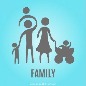 Dibujos Animados Logotipo De La Familia Familia Dibujos