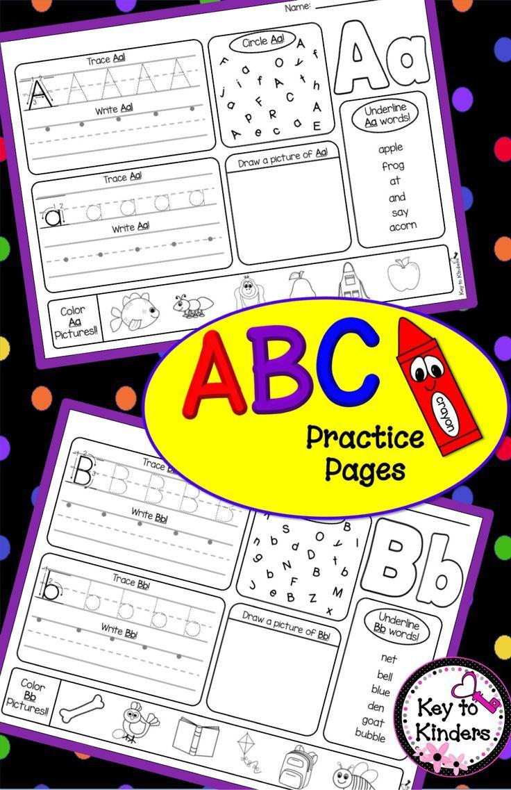 Alphabet Practice Printables | TpT Language Arts Lessons | Pinterest