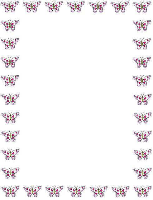 Bordes Decorativos: Bordes decorativos de mariposas para