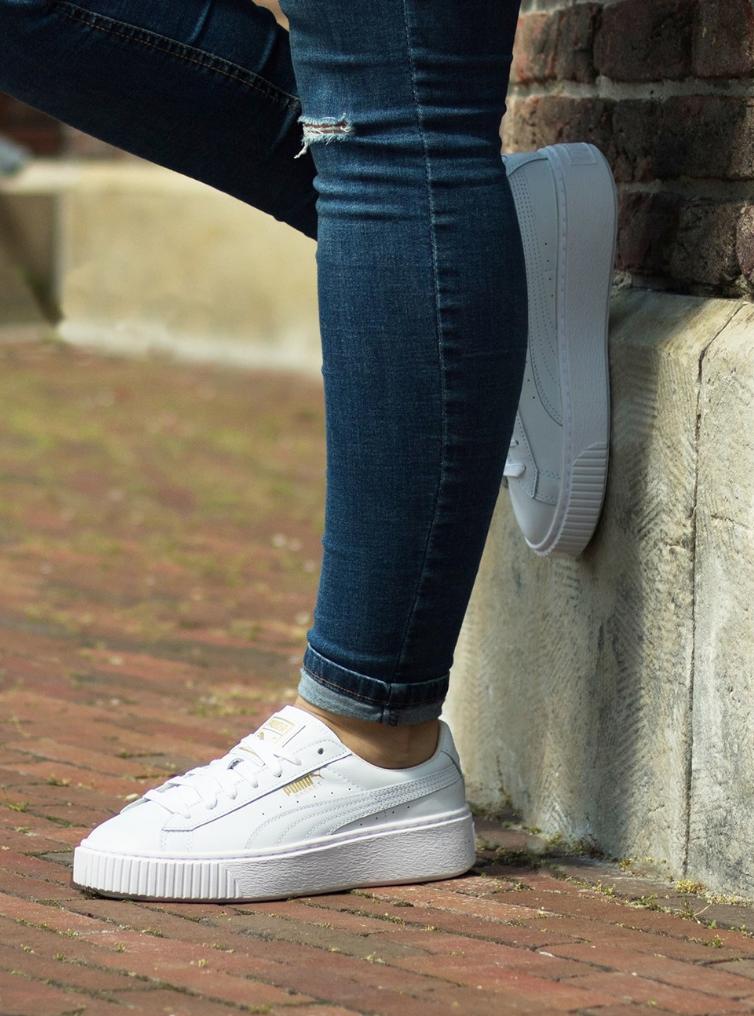 € 109,95 Puma BASKET PLATFORM CORE witte Platform sneakers ...