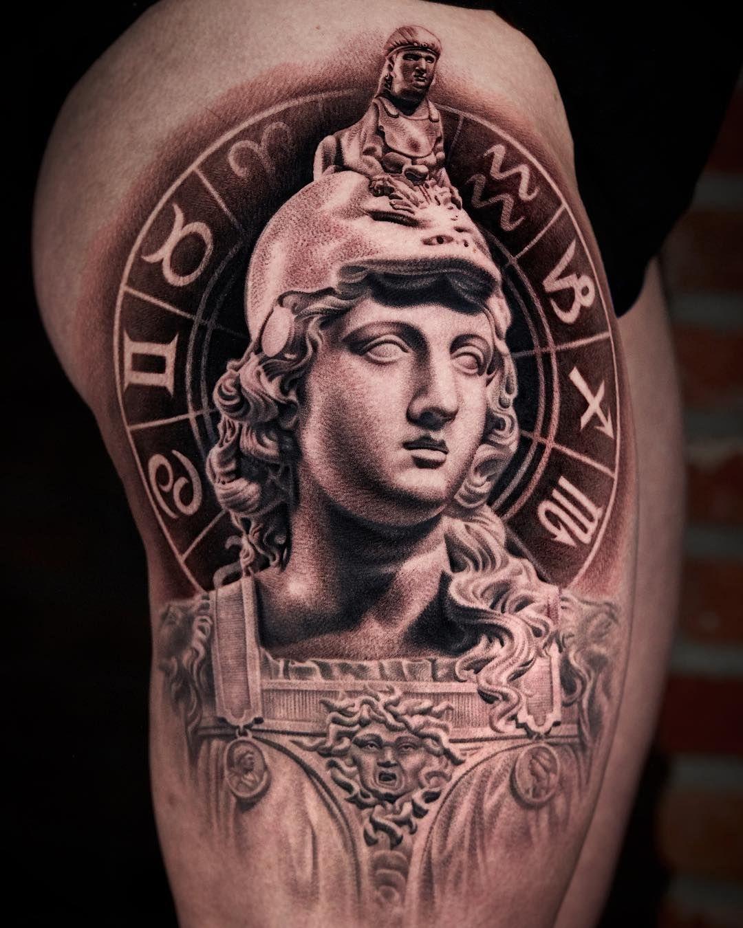 46+ Astonishing Greek statue tattoo artist image ideas