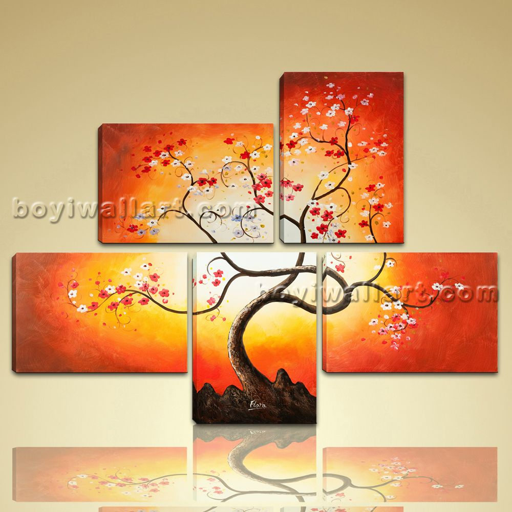 Details about Large Giclee Print On Canvas Wall Art Blossom Tree ...