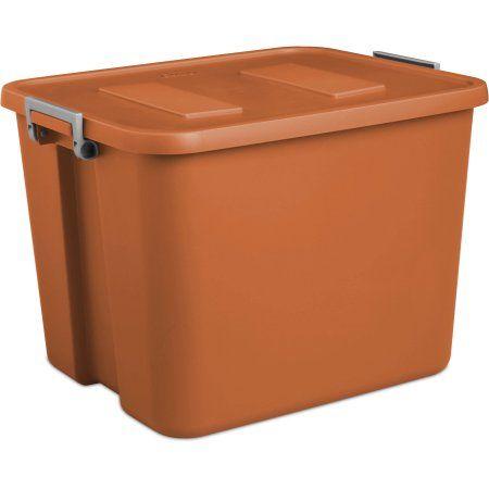 Sterilite 20 Gallon DRP Latch, Orange Spice, Case Of 6
