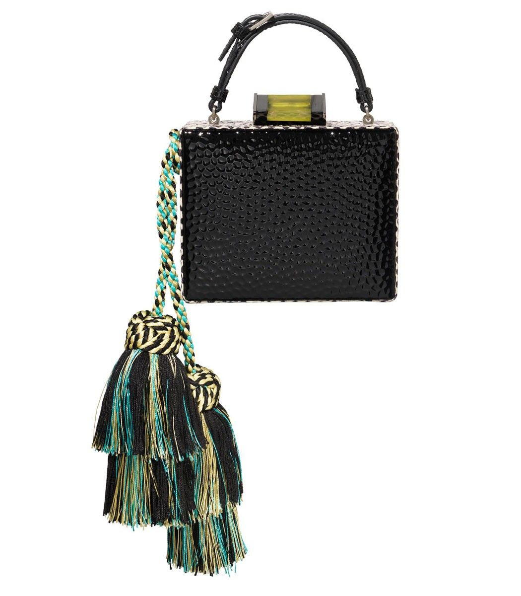 f4e7bd310cf828 Tonya Hawkes: Square Tassel Box Clutch   Fabulous Bags   Bags ...