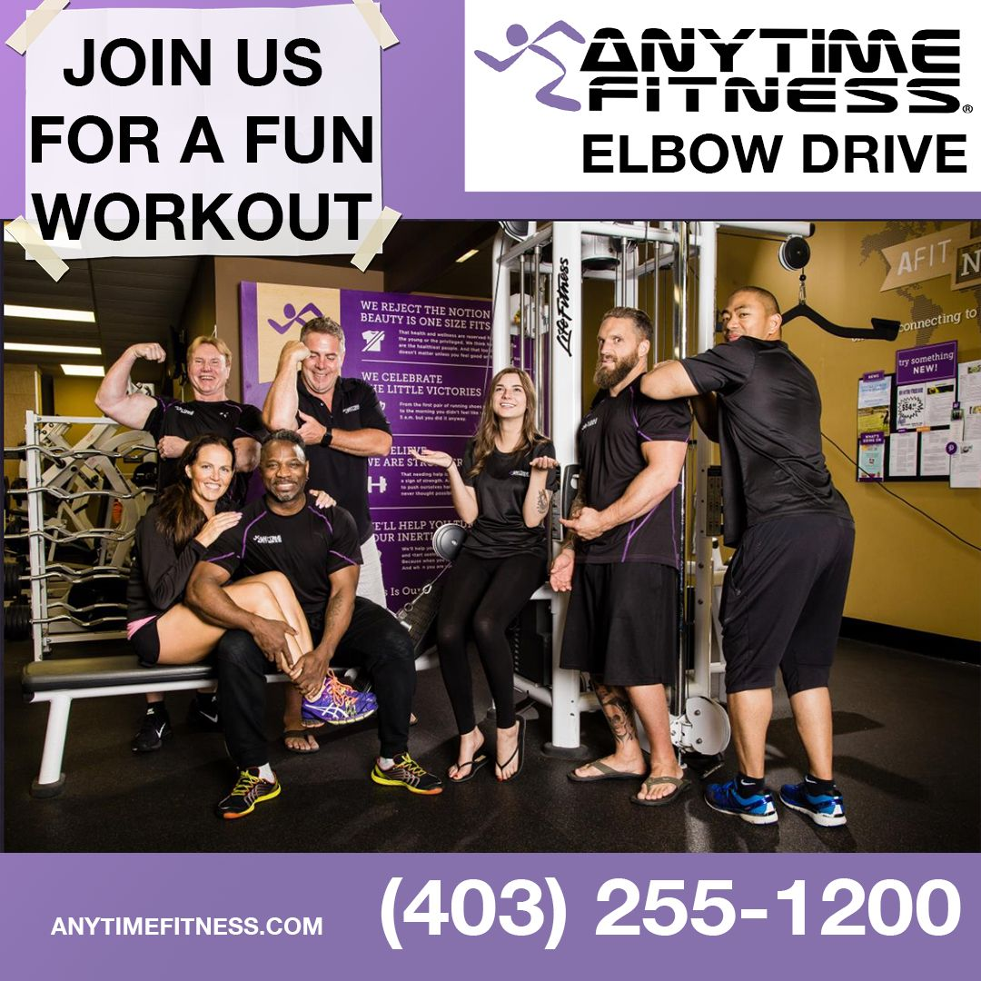 Anytime Fitness Elbow Drive Calgary Anytime Fitness Fun Workouts Fitness Goals