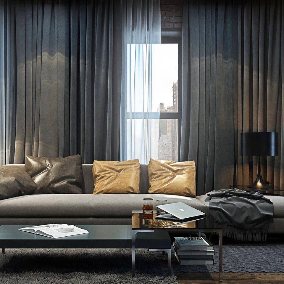Dark Grey Luxury Velvet Curtains / Velvet Curtains