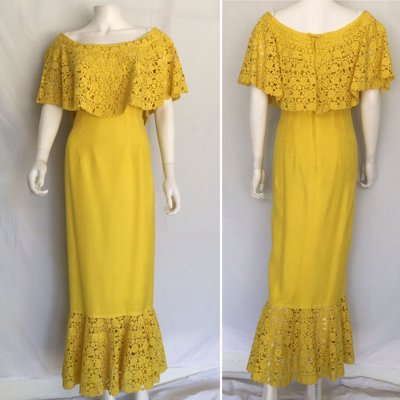 Yellow Linen Maxi Dress