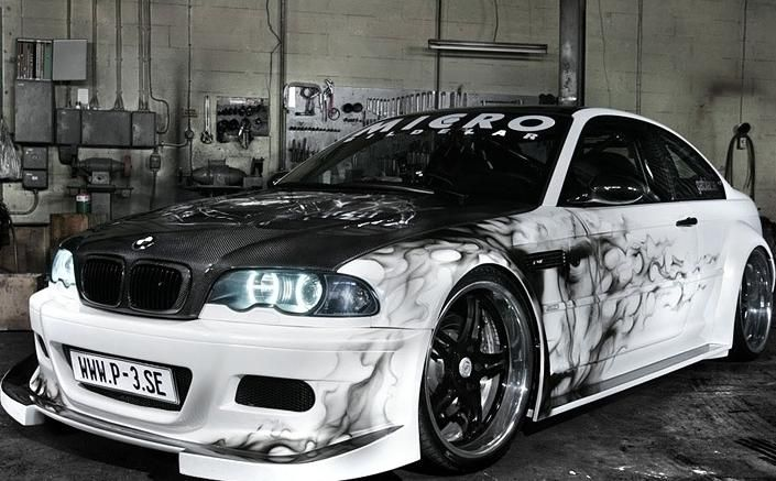 Airbrush Supper Car | Others BMW Car With Custom Airbrush Art | Car  Modification 2011
