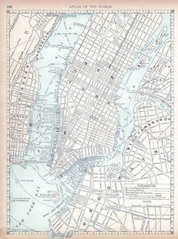 Map of nyc 1890 click to see available print sizes new york new york city atlas world atlas 1890 historical map gumiabroncs Choice Image
