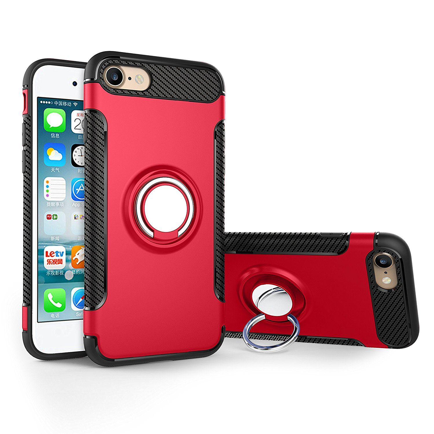Ownest Iphone 7 Case Iphone 8 Case Armor Dual Layer 2 In 1 With Extreme Heavy Duty Protection And Finger Ring Holder K Iphone Cases Car Holder Iphone 5s Covers