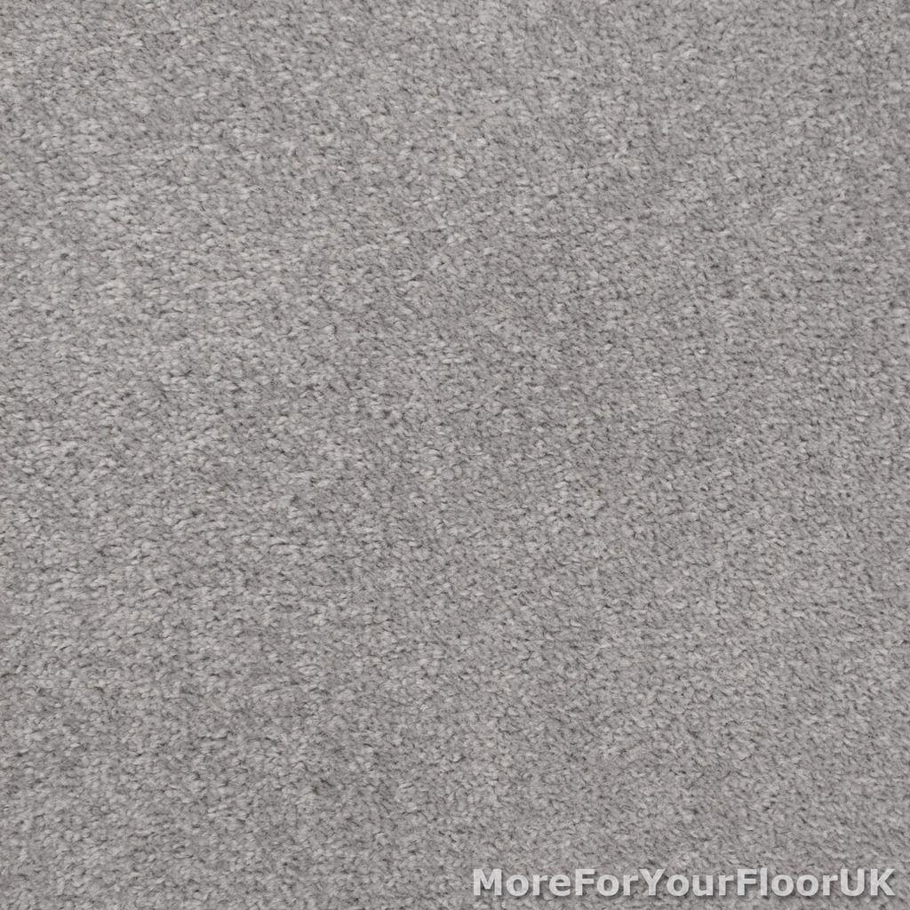Silver Grey Feltback Twist Bedroom Carpet, Cheap Roll | EBay