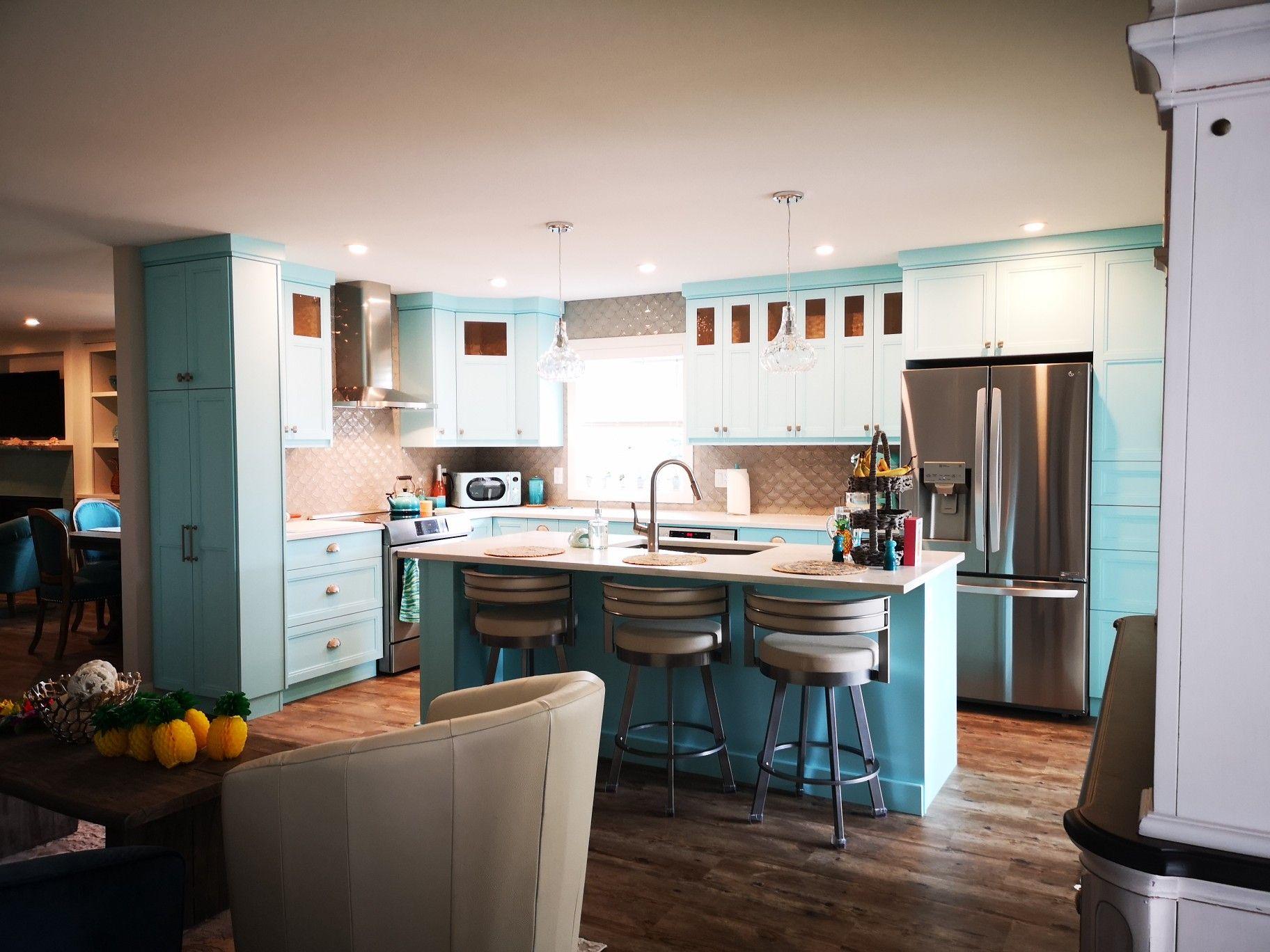 Love our new coastal kitchen in 2020 | Coastal kitchen ...