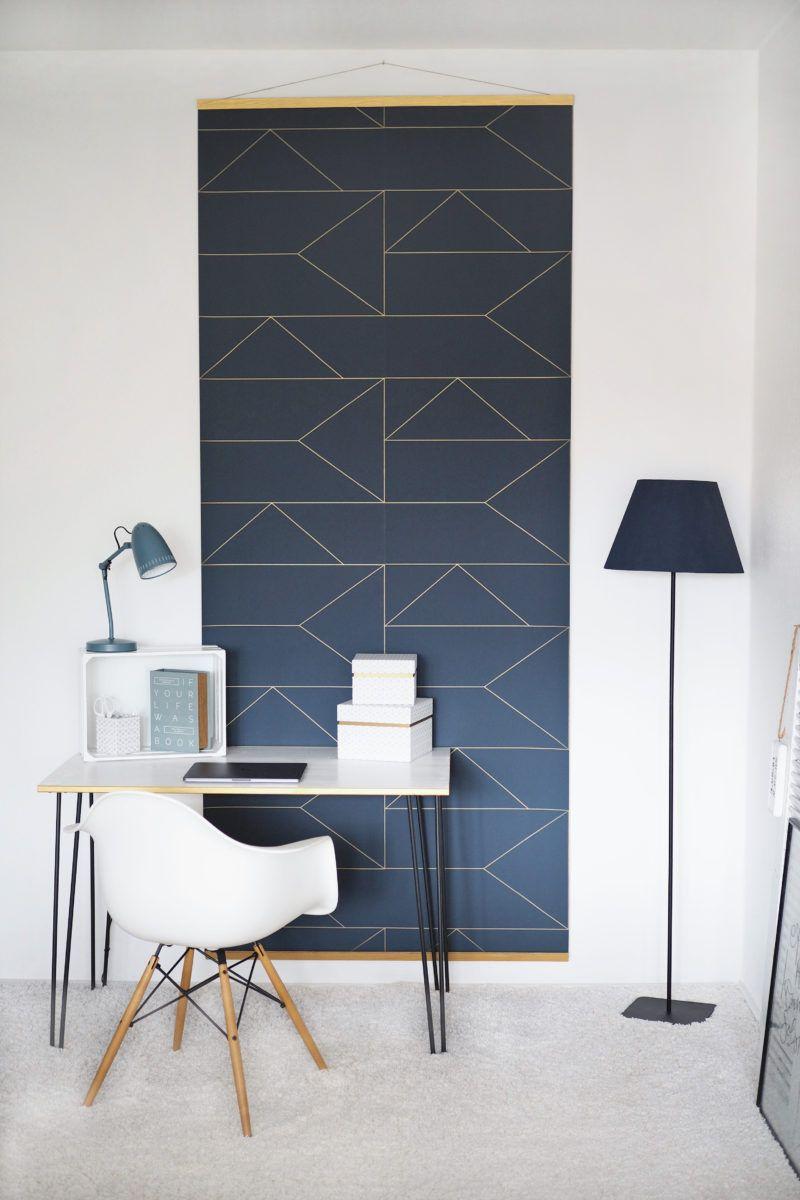DIY-Tapetenwandbild und mein neuer Arbeitsplatz | Home Decor mit DIY ...