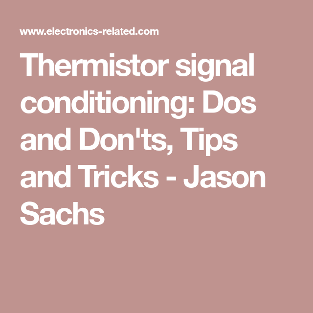 thermistor signal conditioning