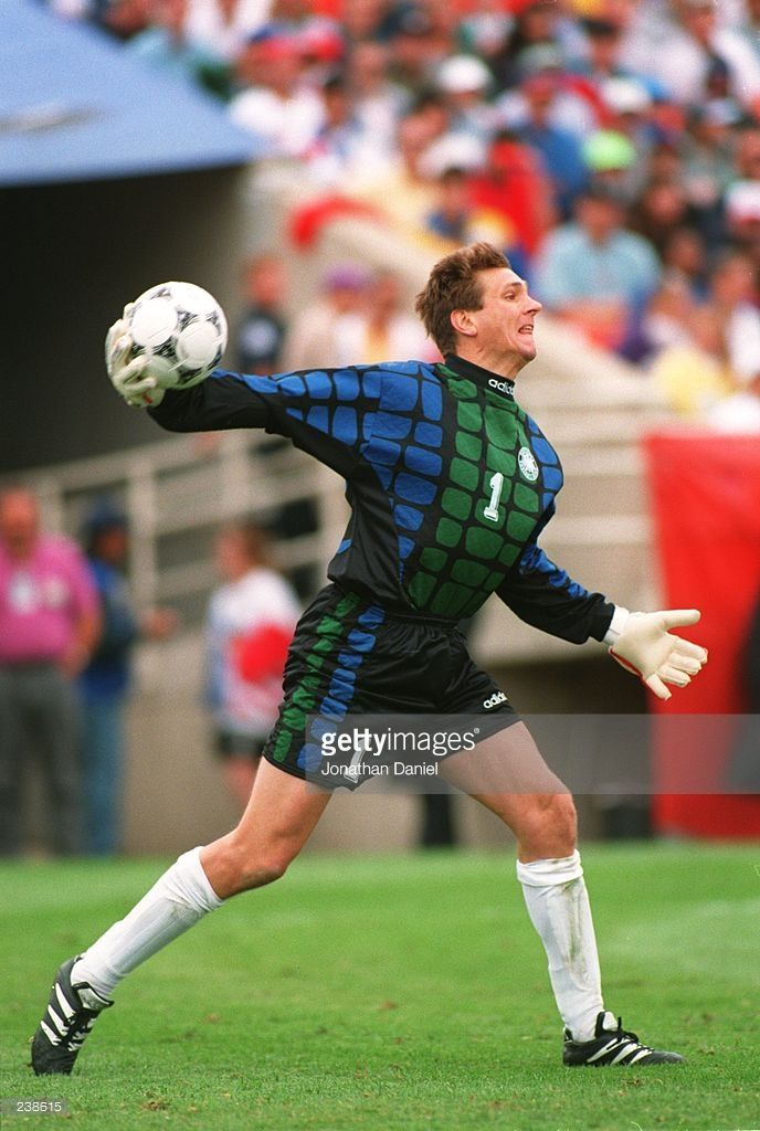 designer fashion 00019 c70ae BODO ILLGNER GOALKEEPER OF GERMANY IN ACTION DURING THE 1994 WORLD CUP  MATCH BETWEEN GERMANY V BELGIUM AT THE SOLDIER FIELD IN CHICAGO, ILLINOIS.