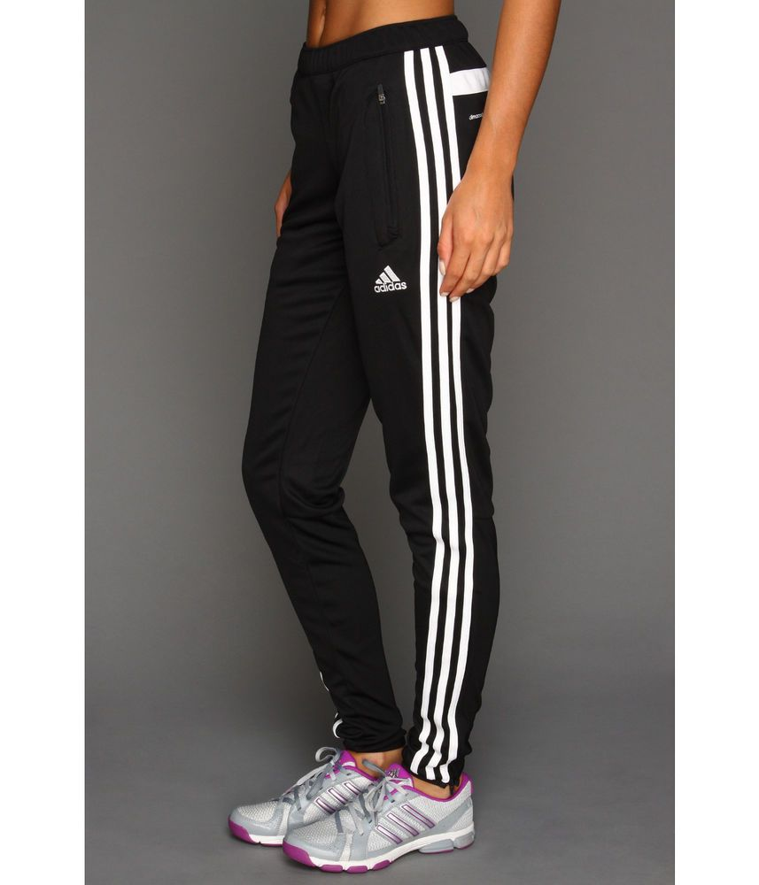 Womens Adidas Tiro 13 Black Pants Slim Fit Training