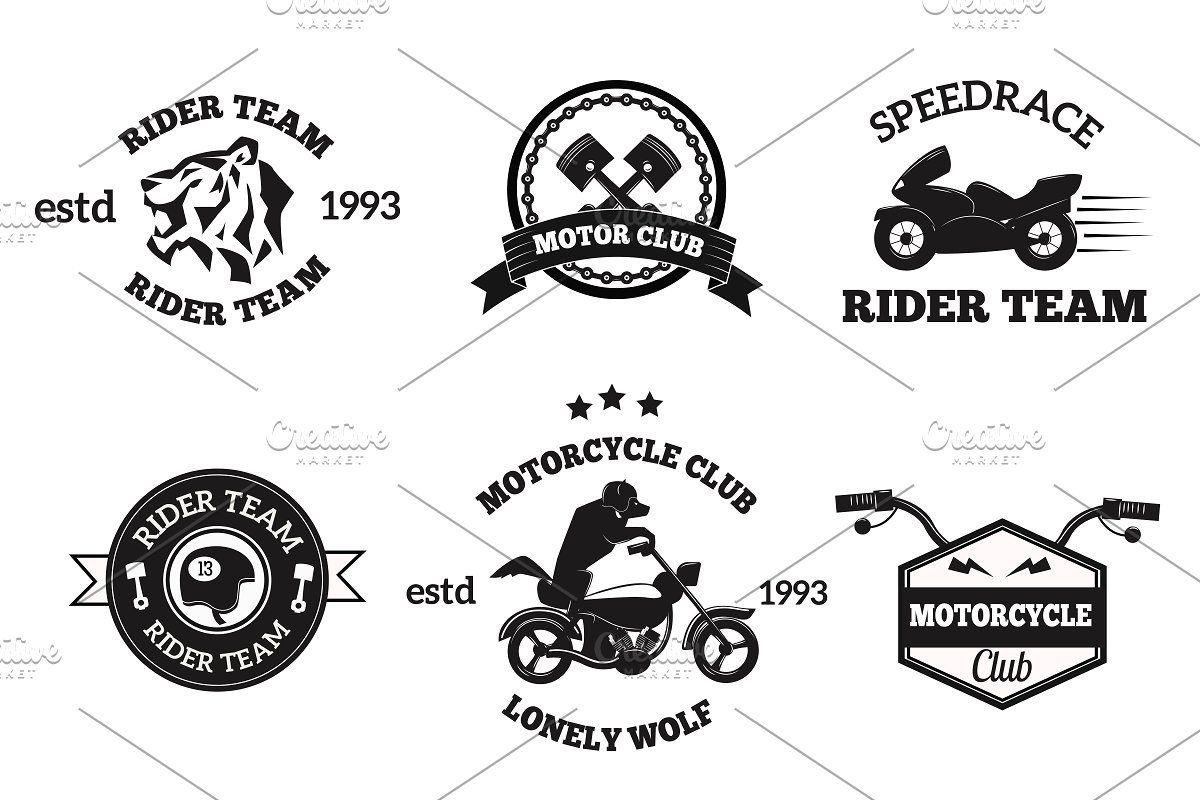 Bikers Badges Emblems Vector In 2020 Vintage Motorcycle Posters Vintage Motorcycle Art Cycle Stickers