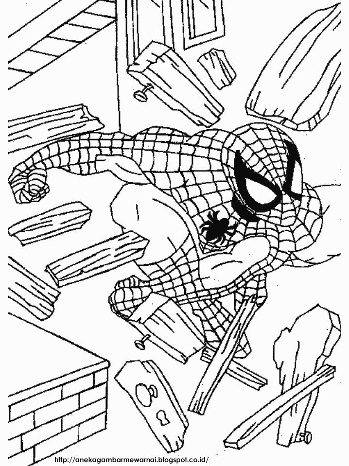 Gambar Mewarnai Spider Man Untuk Anak Paud Dan Tk Spiderman Coloring Coloring Pages Free Coloring Pages