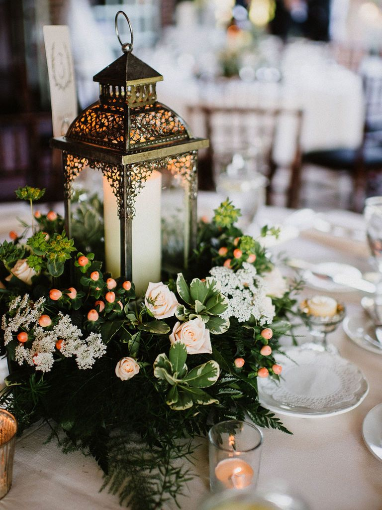 15 Beautiful Lantern Centerpieces For Any Wedding Style Lantern Centerpiece Wedding Romantic Wedding Centerpieces Rustic Lantern Centerpieces