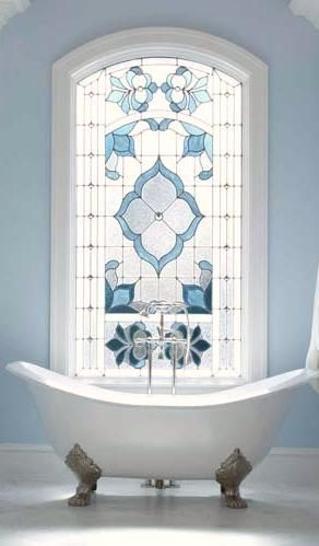 Regain Your Bathroom Privacy Natural Light W This Window Treatment Beautiful Glasses And Window