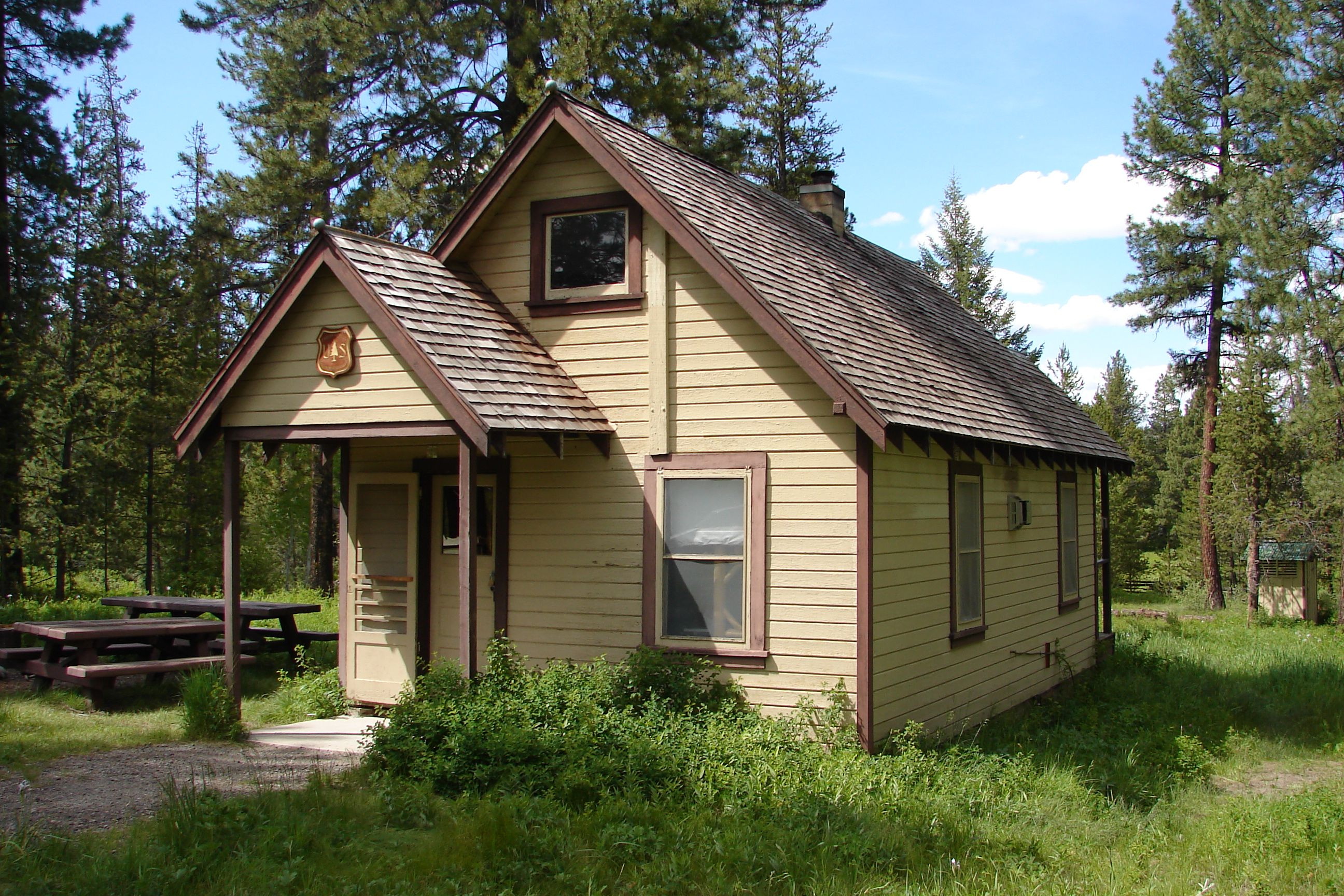 Old Wood Sided Forest Service Ranger Cabin Available For