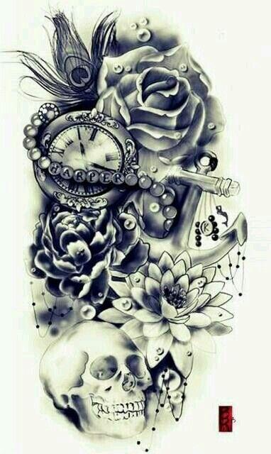 Tattoo Collage Tattoos Skull Tattoo Design Sleeve Tattoos