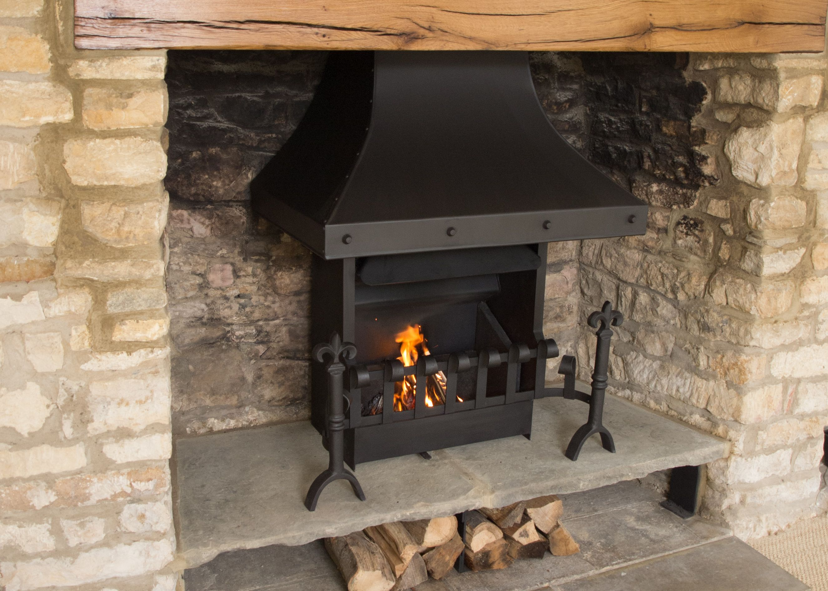 This Re Modeled Cotswold Stone Fire Surround Needed A Fire