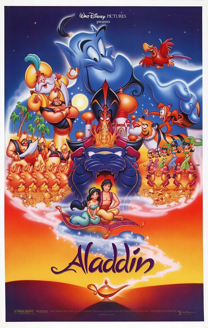 El Senor De Los Bloguinos Aladdin 1992 De John Musker Ron Clements Carteles De Disney Peliculas Infantiles De Disney Carteles De Peliculas De Disney