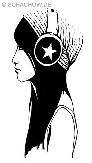 Zeichnung Frau Mit Kopfhorer D R A W I N G S Pinterest