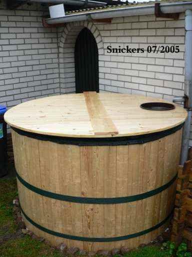 Fabriquer un récupérateur du0027eau de pluie en bois Permaculture