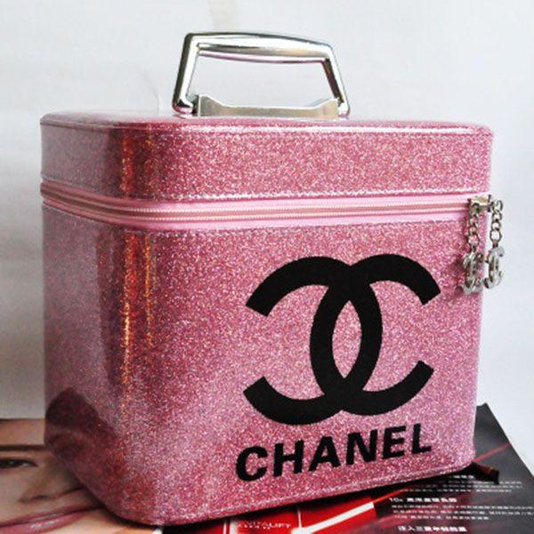 Photo of シャネル化粧バッグ 化粧ポーチ 機能的 高品質 旅行メイクケース防水 BOX バニティバッグ ポーチ 化粧箱