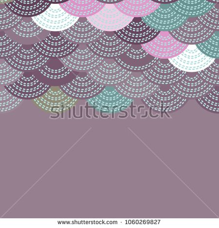 Wave lilac pink brown green white colors card banner design for text abstract scales simple nature background with japanese circle pattern vector also rh pinterest