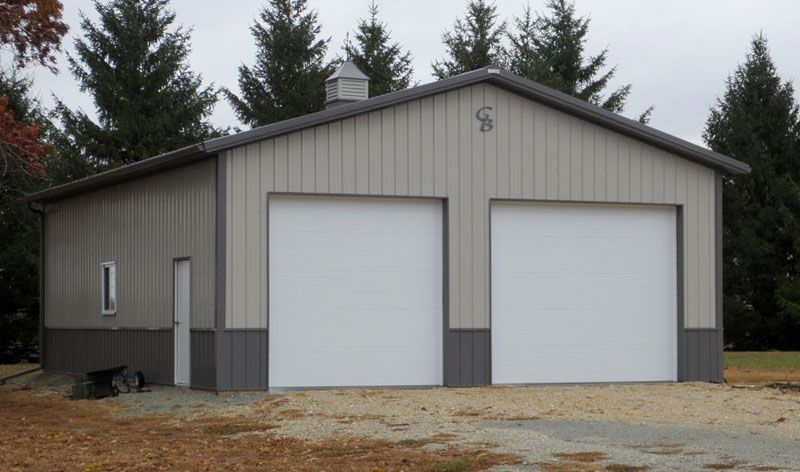 Dennis c 30 39 x 40 garage construction pinterest for Metal garage apartment