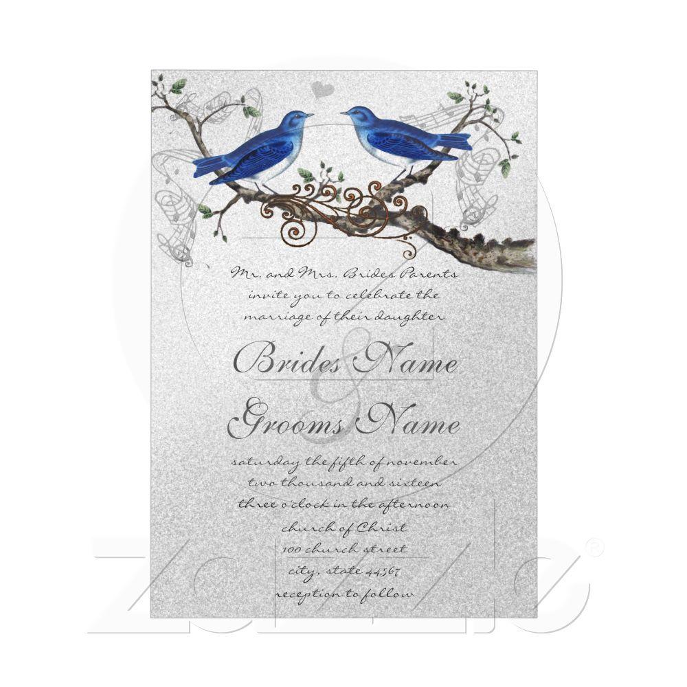 Vintage Blue Birds Wedding Invitations from Zazzle.com | weddings ...