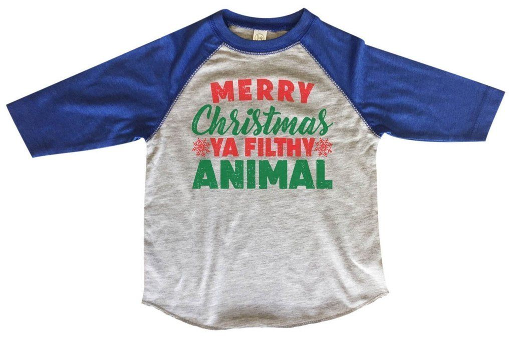5a2e4c711 This is our best selling Christmas Kidz 3/4 length sleeve baseball tee!  Made fresh daily for your little slugger! Enjoy!