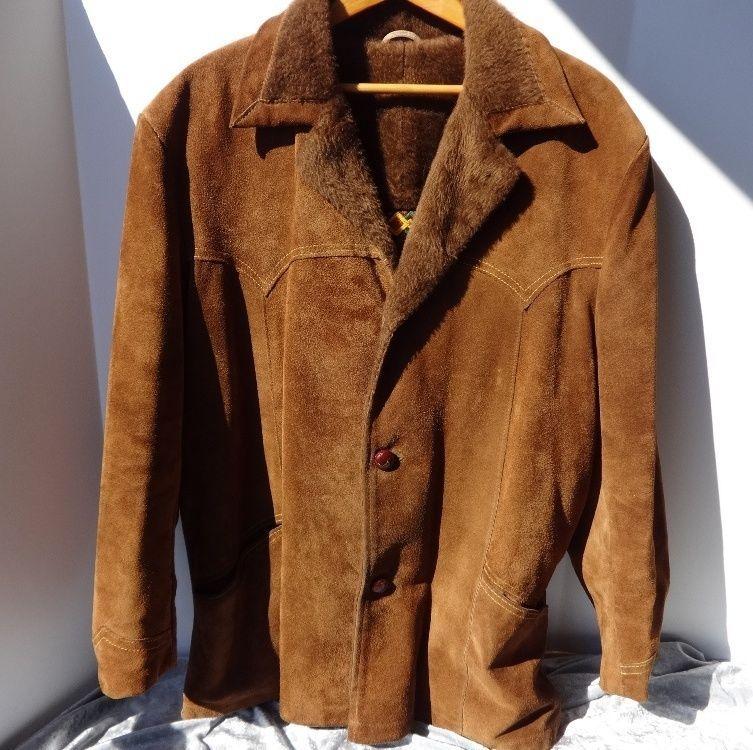Vintage Dark Brown Suede/Faux Fur Jacket ZZYgWJcK0K